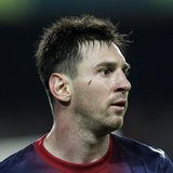 Barcelona's Lionel Messi reacts during their Spanish First division soccer league match against Real Betis at Camp Nou stadium in Barcelona,
