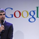 Google CEO Larry Page speaks during a press announcement at Google's headquarters in New York, May 21, 2012. REUTERS/Eduardo Munoz