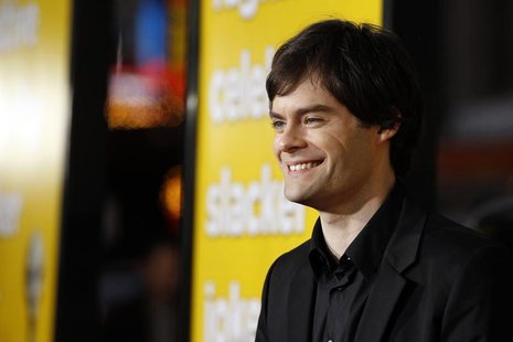 "Cast member Bill Hader poses at the premiere of ""Paul"" at the Grauman's Chinese theatre in Hollywood, California March 14, 2011. REUTERS/Mar"