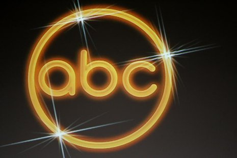 The logo for the ABC television network is shown on a video screen at the Disney ABC Television Group summer press tour in Beverly Hills, Ca