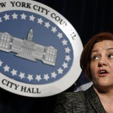 New York City Council Speaker Christine Quinn speaks during a news conference to announce the legislation to increase the minimum age for bu