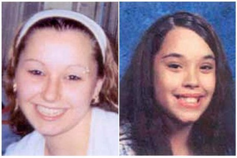 Amanda Marie Berry (L) and Georgina Lynn Dejesus are pictured in this combination photograph in undated handout photos released by the FBI.