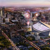 The new Minnesota Vikings stadium. Photo courtesy of Minnesota Vikings