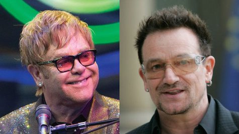 Image courtesy of Facebook.com/EltonJohn; Franck Prevel/Getty Images (via ABC News Radio)