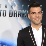 "Actor Zachary Quinto, cast member of the new film ""Star Trek Into Darkness"", poses as he arrives at the film's premiere in Hollywood May 14,"
