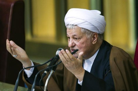Former Iranian president Akbar Hashemi Rafsanjani gives the opening speech during Iran's Assembly of Experts' biannual meeting in Tehran Mar