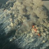 Aerial photo of wildfire, courtesy Wisconsin DNR
