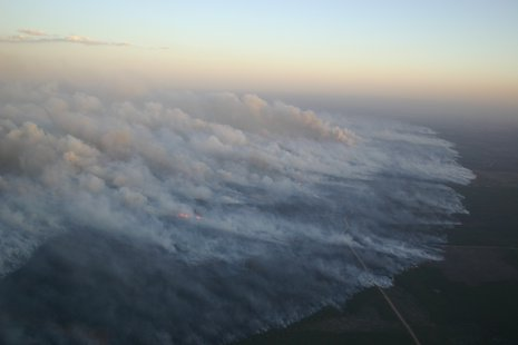 Wildfire in northern Wisconsin.  Photo courtesy WI DNR
