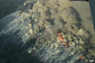 Douglas County Wildfire (courtesy of the Wisconsin DNR).
