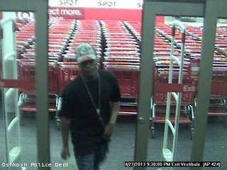Oshkosh police believe this man tried to pass a counterfeit $100 bill at a store April 27, 2013.