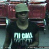 Oshkosh police believe this woman tried to pass a counterfeit $100 bill at a store April 27, 2013.
