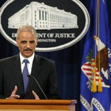 U.S. Attorney General Eric Holder (L) and Health and Human Services Secretary Kathleen Sebelius hold a news conference to announce Medicare