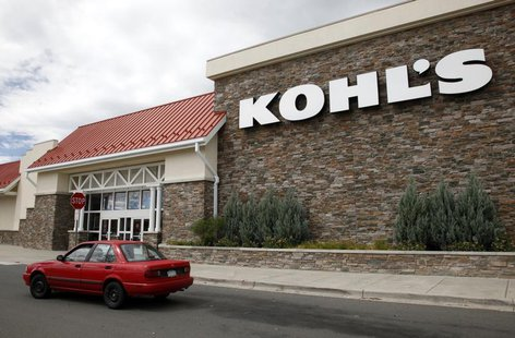 A car drives by the Kohl's department store in Arvada, Colorado August 12, 2010.REUTERS/Rick Wilking