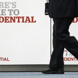 A shareholder arrives at Prudential's annual general meeting in central London June 7, 2010. REUTERS/Stefan Wermuth
