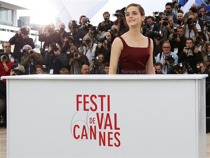 Cast member Emma Watson poses during a photocall for the film 'The Bling Ring' during the 66th Cannes Film Festival in Cannes May 16, 2013.