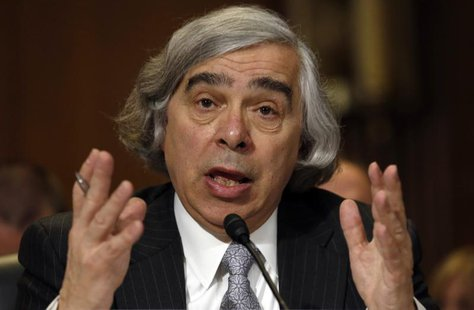 Ernest Moniz testifies before a Senate Energy & Natural Resources Committee hearing on his nomination to be energy secretary on Capitol Hill