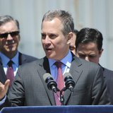 Attorney General Eric T. Schneiderman announces that he is filing lawsuits against four service stations for violations of the New York Stat