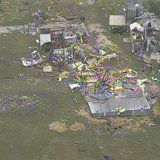 An aerial image from KXAS-NBC5 Dallas-Ft Worth video footage shows tornado damage left behind in Hood County, Texas, May 16, 2013. REUTERS/C