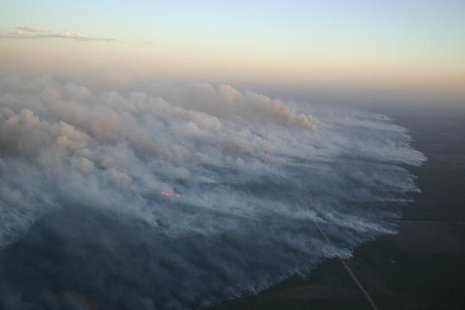 Photo taken of Germann Road Fire (courtesy of the Wisconsin DNR).