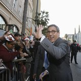 "Cast member Steve Carell waves at fans at the premiere of ""The Incredible Burt Wonderstone"" in Hollywood, California March 11, 2013. REUTERS"