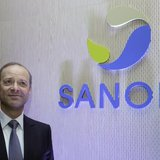Chris Viehbacher, Chief Executive Officer of Sanofi, poses for the media before the company's 2012 annual results presentation in Paris Febr