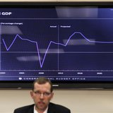"Congressional Budget Office (CBO) Director Douglas Elmendorf speaks at a news conference to release the CBO's annual ""Budget and Economic Ou"