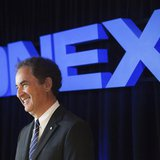 Onex Chairman of the Board, President, and Chief Executive Officer Gerald Schwartz speaks at their annual general meeting for shareholders i