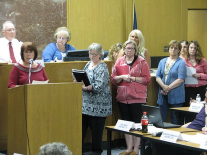 Linda Karger and cat funding supporters address Marathon County Board 5/16/13