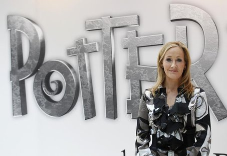 British author JK Rowling, creator of the Harry Potter series of books, poses during the launch of new online website Pottermore in London J