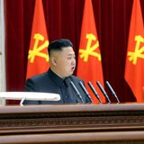 North Korean leader Kim Jong-un speaks during a plenary meeting of the Central Committee of the Workers' Party of Korea in Pyongyang March 3