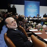 U.S. Federal Reserve Chairman Ben Bernanke attends the G20 finance ministers meeting during the Spring Meeting of the International Monetary