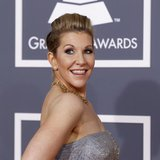 Mezzo soprano Joyce DiDonato poses as she arrives at the 54th annual Grammy Awards in Los Angeles, California February 12, 2012. REUTERS/Dan