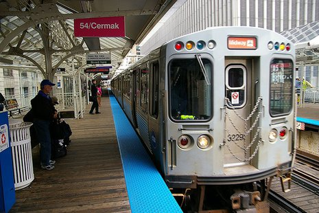 CTA Chicago subway train