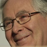 Bank of England Governor Mervyn King speaks to reporters at the close of the G7 Finance Ministers and central bank governors summit at Hartw