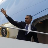 U.S. President Barack Obama steps aboard Air Force one at Andrews Air Force Base near Washington, May 19, 2013. REUTERS/Jason Reed