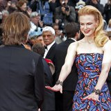 "Jury member actress Nicole Kidman (R) and her husband Keith Urban pose on the red carpet as they arrive for the screening of the film ""Insid"