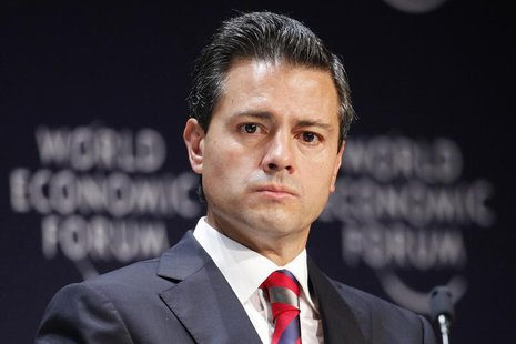 Mexico's President Enrique Pena Nieto attends the inauguration of the World Economic Forum on Latin America in Lima, April 24, 2013. REUTERS