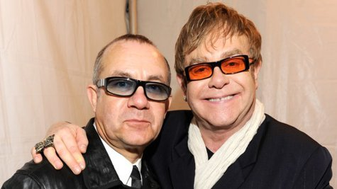 Image courtesy of Bernie Taupin, left; Kevin Mazur/WireImage (via ABC News Radio)