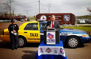 Transportation secretary Mark Gottlieb talks about the Zero in Wisconsin effort at the Wausau State Patrol headquarters, May 21 2013