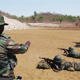Malian soldiers practise marksmanship during a European Union training mission session in Koulikoro May 17, 2013. A European Union training