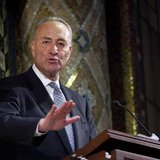 U.S. Senator Charles Schumer of New York speaks at the Temple Emanu-El during the annual Holocaust Remembrance Day in New York April 7, 2013
