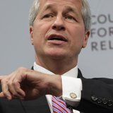 JPMorgan Chase & Co CEO Jamie Dimon gestures as he talks about the state of the global economy at a forum hosted by the Council on Foreign R
