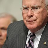 Committee Chairman Senator Patrick Leahy (D-VT) (R) and ranking member Sen. Jeff Sessions (R-AL) (L) preside over the second day of U.S. Sup