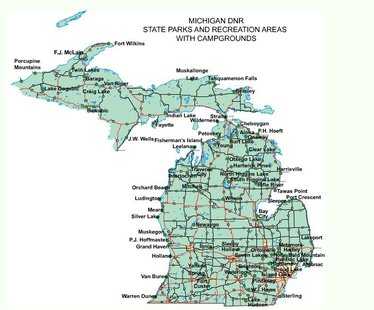 Michigan campground sites
