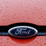 The Ford logo is seen on a vehicle at Ford car plant in Craiova, 230km (143 miles) west of Bucharest, October 29, 2012. REUTERS/Bogdan Crist