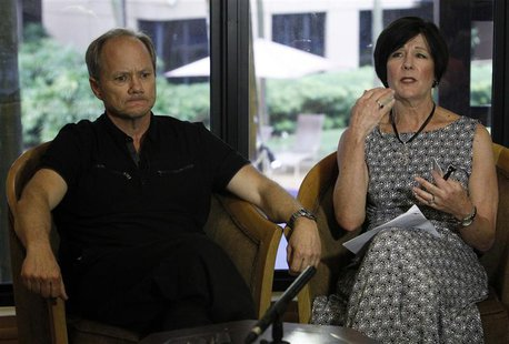 Rick and Mary Todd speak to Reuters during an interview at their temporary place of residence in Singapore May 22, 2013. REUTERS/Edgar Su