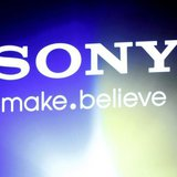 "A Sony logo is seen at an unveiling of the company's head mounted display ""Personnal 3D Viewer HMZ-T1"", in Tokyo August 31, 2011. REUTERS/Is"