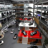 Mercedes-Benz cars are displayed in a dealership of German car manufacturer Daimler in Munich May 17, 2013. REUTERS/Michaela Rehle