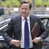 Britain's Prime Minister David Cameron arrives at a European Union leaders summit in Brussels May 22, 2013. REUTERS/Eric Vidal