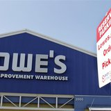 A specially designated parking spot for Lowes.com shoppers is pictured in the parking lot at the Lowe's Home Improvement Warehouse in Burban